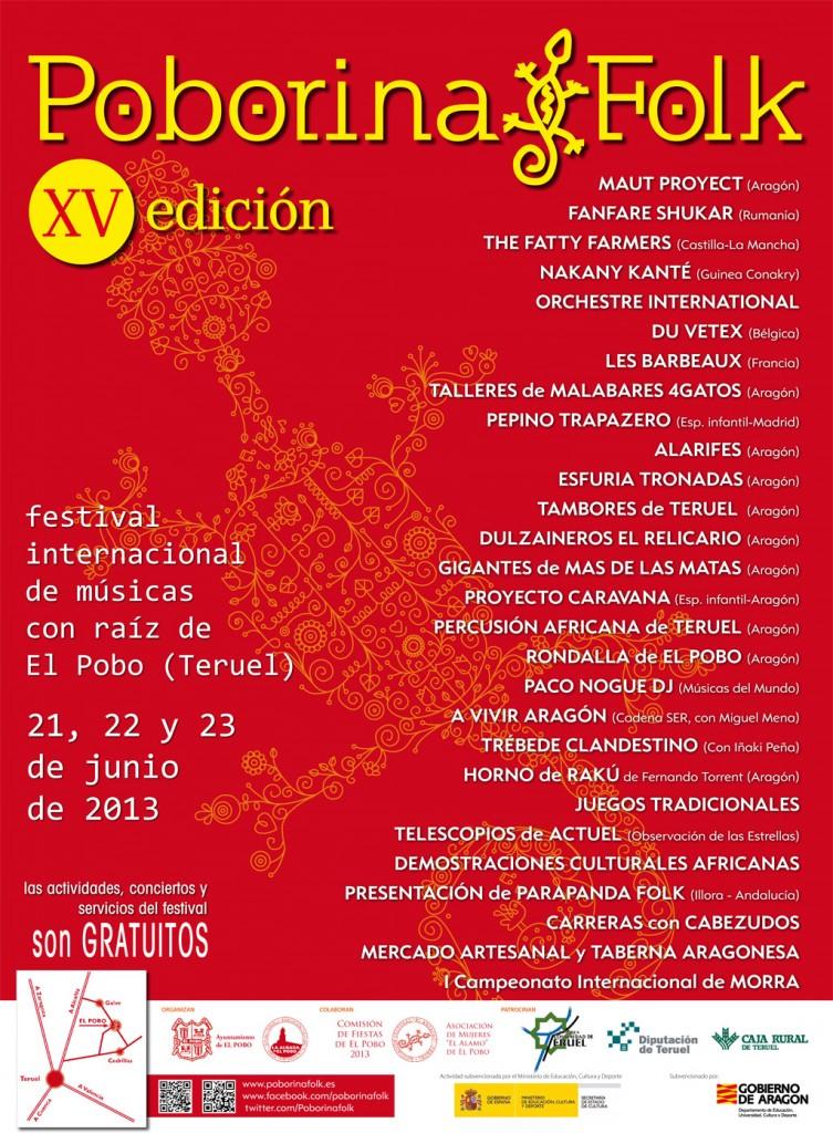 Cartel XV Edición Festival Poborina Folk