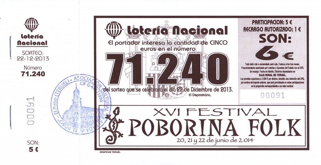 Lotería Poborina 2013