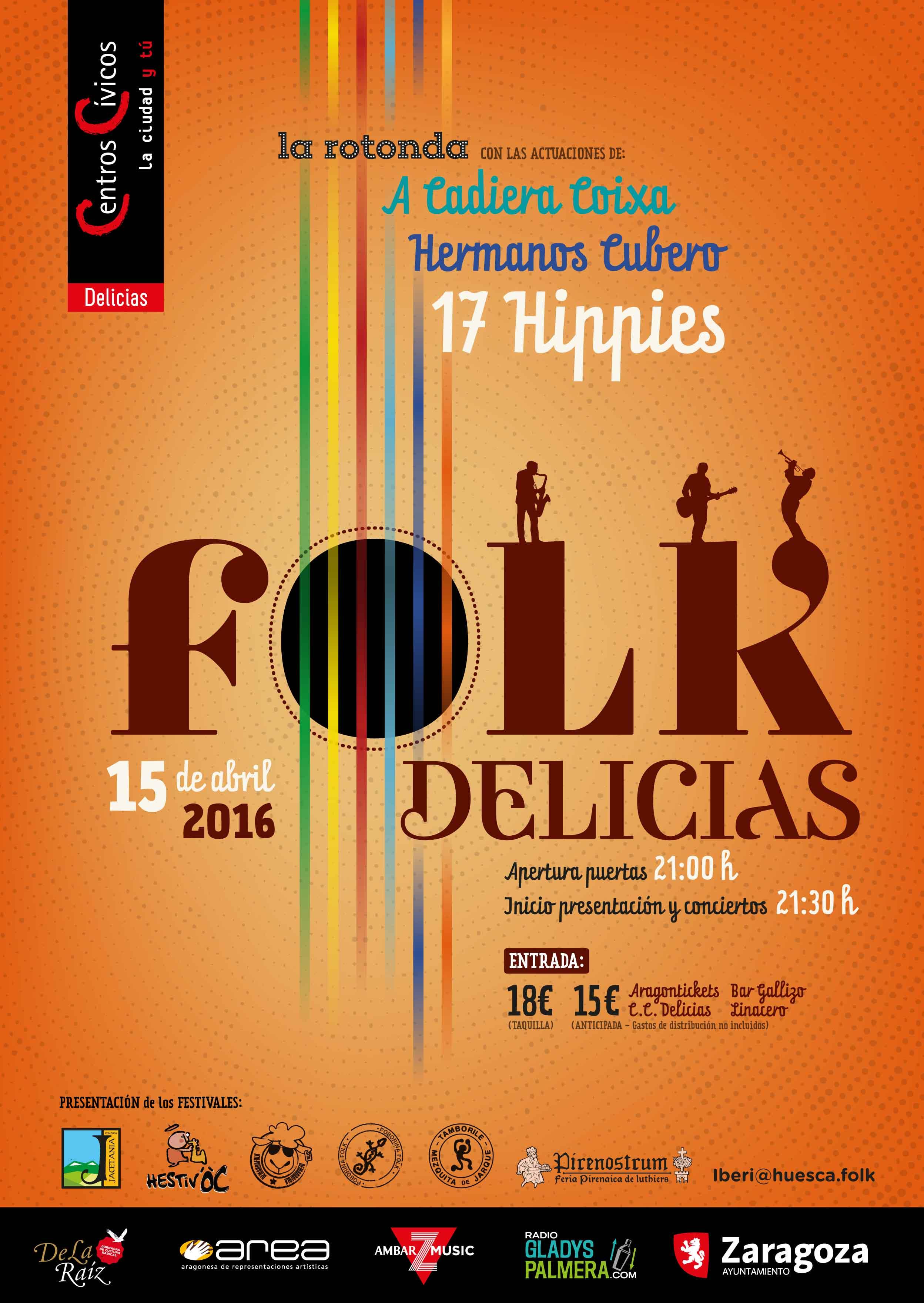 Cartel Folk Delicias 2016