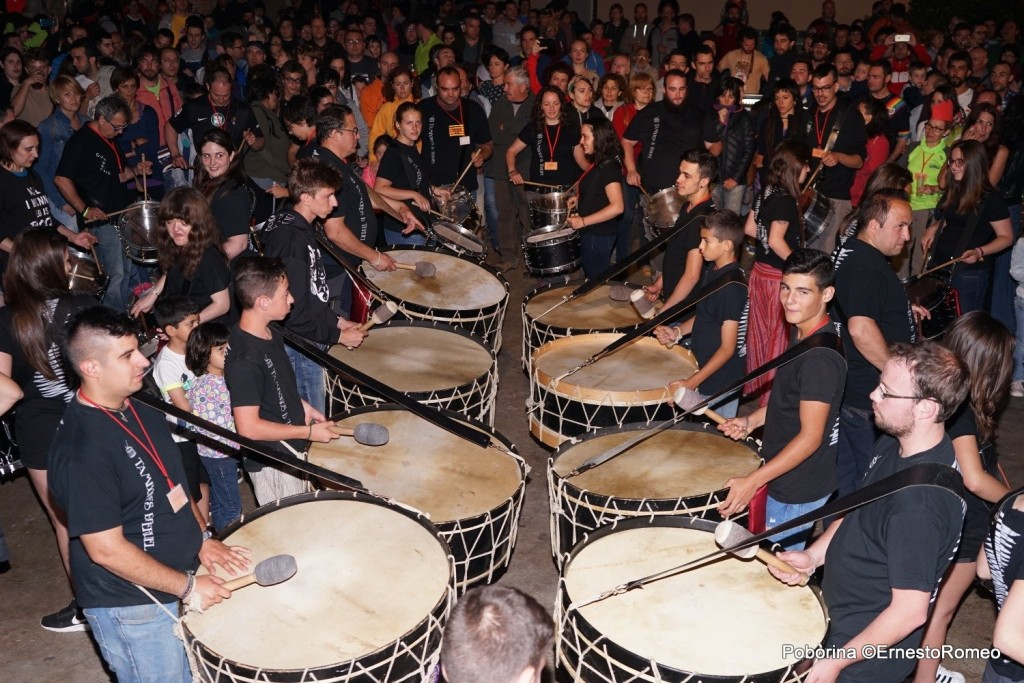 Tambores de Teruel en Poborina Folk