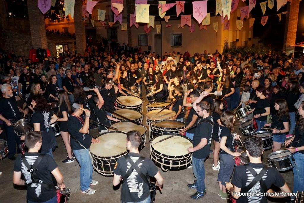 Tambores de Teruel en festival Poborina Folk