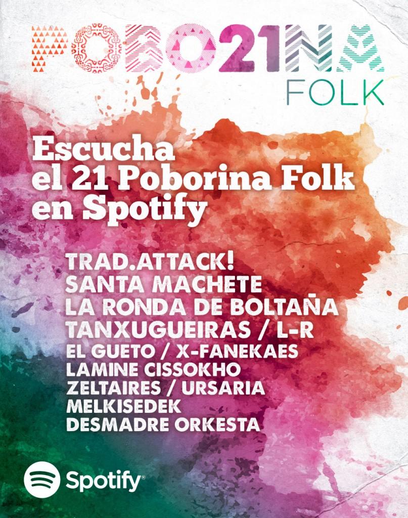 Play List en Spotify del 21 Poborina Folk